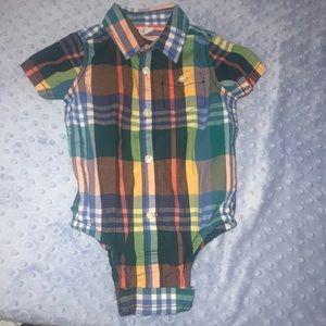 GAP Shirts & Tops - EUC Toddler Plaid Onesie